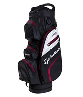 TaylorMade Deluxe Waterproof Cart Bag Blood Black/White/Red 2019