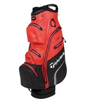 TaylorMade Deluxe Waterproof Cart Bag Blood Orange/Black 2019