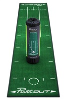 Puttout Deluxe Putting Mat Green