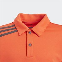 Adidas Junior 3-Stripes Tournament Polo Hi-Res Red