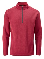 Ping Ramsey Half Zip Fleece Golf Top Rich Red Marl