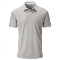 Ping Harrison Heather Polo Shirt Grey Marl/White 2019