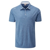 Ping Harrison Heather Polo Shirt Vista Blue Marl/White 2019