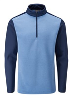 Ping Phaser 1/2 Zip Golf Pullover Vista Blue Marl Oxford Blue 2019