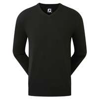 FootJoy Wool Blend V-Neck Pullover Black 2019