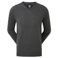 FootJoy Wool Blend V-Neck Pullover Heather Charcoal 2019