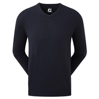 FootJoy Wool Blend V-Neck Pullover Navy 2019