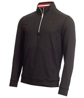 Calvin Klein Golf Orbit Half Zip Pullover Black/Red