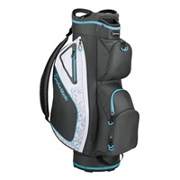 TaylorMade Ladies Kalea Cart Bag Charcoal/Blue 2019