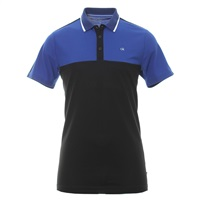 Calvin Klein Golf Scope Polo Shirt Black/Royal 2019