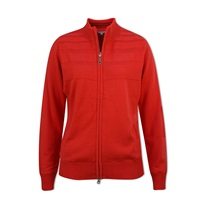Green Lamb Ladies Gabriella Windbreaker Cardigan Rouge