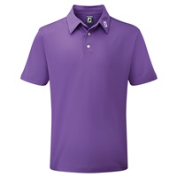 FootJoy Stretch Pique Solid Polo Purple