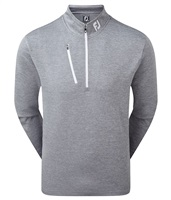 FootJoy Heather Pinstripe Chill-Out Pullover Slate/White