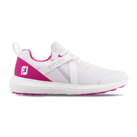 FootJoy Ladies Flex Shoes Medium Width White/Fuchsia