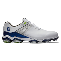 FootJoy Tour X Golf Shoes - White/Navy Wide Width
