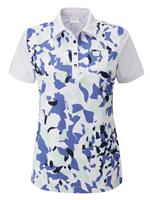 Ping Ladies Golf Polo Shirt Botanical White