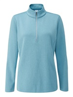 Ping Ladies Lyla Half Zip Fleece Golf Top Tranquil Blue Marl