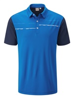 Ping Newton Golf Polo Shirt Snorkel Blue/Oxford Blue