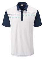 Ping Newton Golf Polo Shirt White/Oxford Blue