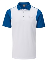 Ping Vista Golf Polo Shirt White/Snorkel Blue