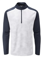 Ping Vertical Half Zip Golf Top White/Navy