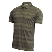 Calvin Klein Golf Shadow Sripe Polo Shirt Army Marl