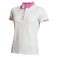 Green Lamb Ladies Paige Jersey Club Polo White/Orchid