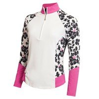 Green Lamb Ladies Flory Long Sleeve Raglan Print Top White/Orchid