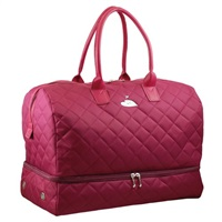 Daily Sports Raspberry Quilted Holdall