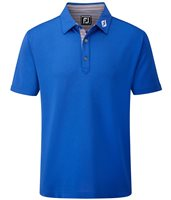 FootJoy Stretch Pique Multi Stripe Lisle Trim Polo
