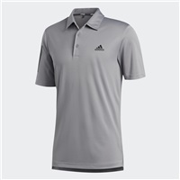 Adidas 3-Stripe Basic Polo Shirt Grey Three/Black