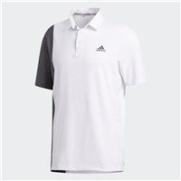 Adidas Ultimate365 Blocked Print Polo Shirt White/Grey Six/Collegiate Navy