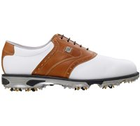 FootJoy Dryjoys Tour Mens Golf Shoes White Brown