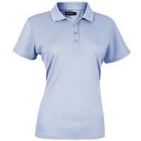 Island Green Ladies Plain Polo Shirt Cerulean