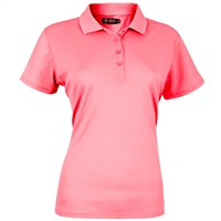 Island Green Ladies Plain Polo Shirt Pink