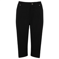 Island Green Ladies Capri Trousers Black