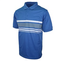 Island Green Chest Stripe Golf Polo Shirt Purist Blue/Charcoal