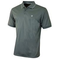 Island Green Contrast Tipped Collar CoolPass Breathable Polo Shirt Charcoal