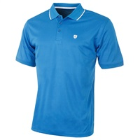 Island Green Contrast Tipped Collar CoolPass Breathable Polo Shirt Marine