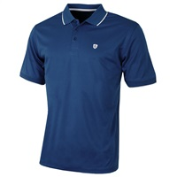 Island Green Contrast Tipped Collar CoolPass Breathable Polo Shirt Navy