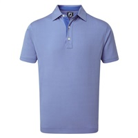 FootJoy Four Dot Jacquard Polo Shirt Royal/White