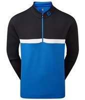 FootJoy Colour Blocked Chill-Out Pullover Black/Royal/White