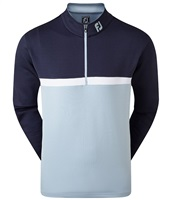 FootJoy Colour Blocked Chill-Out Pullover Navy/Blue Fog/White