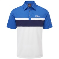 Oscar Jacobson Boston Polo Shirt White/Mid Blue