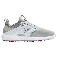 Puma IGNITE PWRADAPT Caged Golf Shoes Silver/White