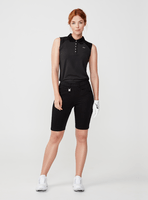 Rohnisch Ladies Pulse Sleeveless Poloshirt Black