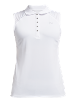 Rohnisch Ladies Pulse Sleeveless Poloshirt White