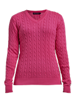 Rohnisch Ladies Cable Pullover Fuchsia