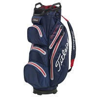 Titleist StaDry Golf Cart Bag Navy/Sleet/Red