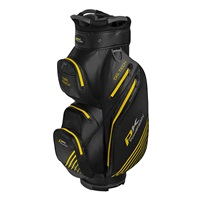 Powakaddy Dri Tech Cart Bag Black/Gun Metal/Yellow